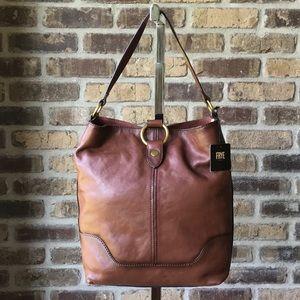 Frye Leather Ring Hobo Cognac NWT